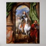 Charles I on Horseback by Van Dyck Print