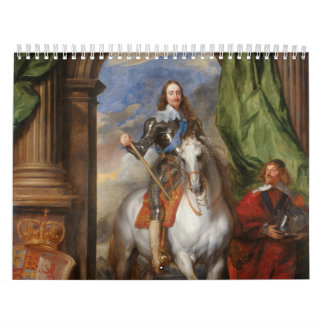 Charles I with M de St Antoine by Anthony van Dyck Wall Calendars