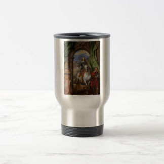 Charles I with M de St Antoine by Anthony van Dyck Travel Mug