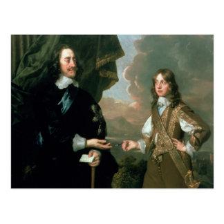 Charles I y James, duque de York, c.1647 Postal