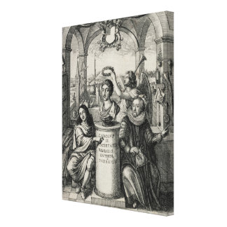 Charles II (1630-85) as Patron of the Royal Societ Canvas Print