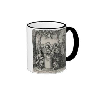 Charles II (1630-85) as Patron of the Royal Societ Ringer Coffee Mug