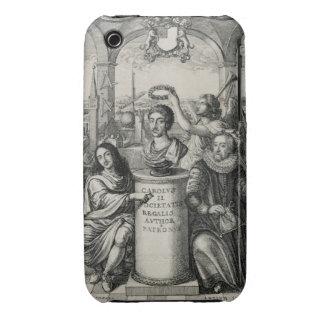 Charles II (1630-85) como patrón del Societ real iPhone 3 Case-Mate Coberturas