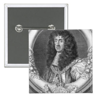 Charles II (1630-85) King of Great Britain and Ire 2 Inch Square Button