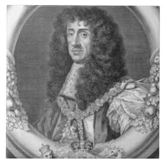 Charles II (1630-85) King of Great Britain and Ire Ceramic Tile