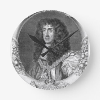 Charles II (1630-85) King of Great Britain and Ire Round Clock