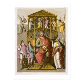 Charles II (823-77) the Bald, after a manuscript i Postcard