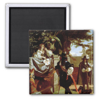 Charles II  and Nell Gwynne 2 Inch Square Magnet