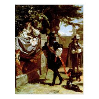 Charles II  and Nell Gwynne Postcard