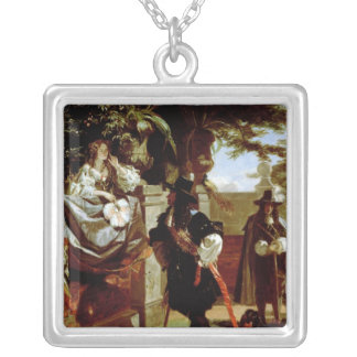Charles II  and Nell Gwynne Silver Plated Necklace