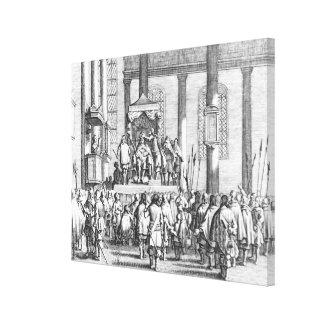Charles II  Crowned at Scone, 1651 Canvas Print