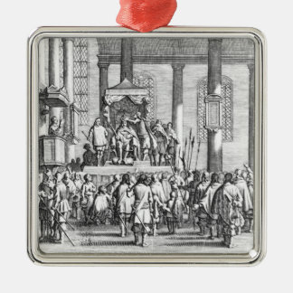 Charles II  Crowned at Scone, 1651 Metal Ornament