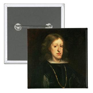 Charles II de España Pin Cuadrado