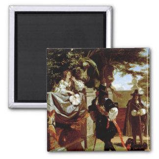Charles II y Nell Gwynne Imán Cuadrado