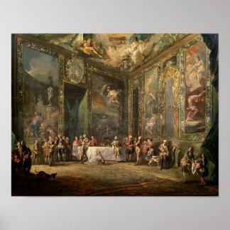 Charles III de Borbon, almorzando antes el suyo Póster