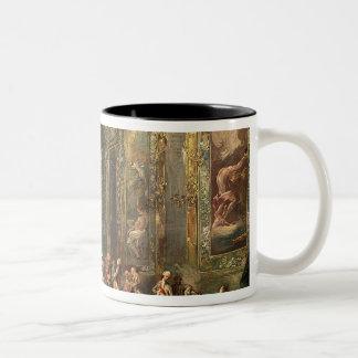 Charles III  de Borbon, lunching Before his Two-Tone Coffee Mug