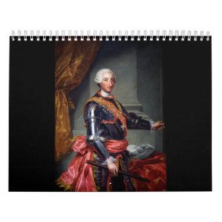 Charles III de España de Anton Raphael Mengs 1761 Calendario