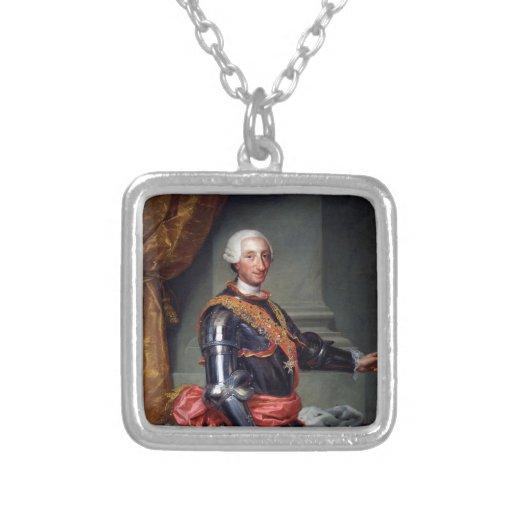 Charles III de España de Anton Raphael Mengs 1761 Colgante