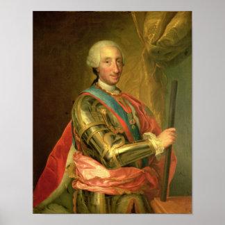 Charles III en armadura, después de 1759 Póster