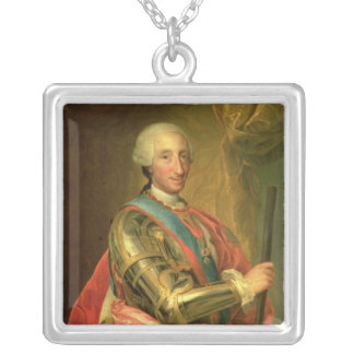 Charles III  in Armour, after 1759 Silver Plated Necklace