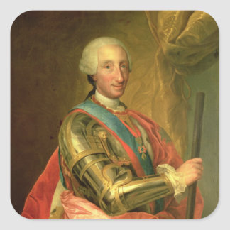 Charles III  in Armour, after 1759 Square Sticker