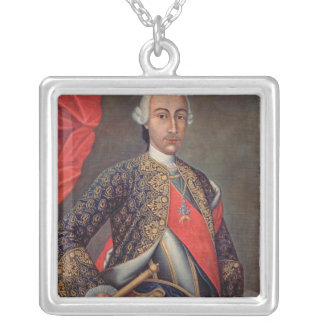Charles III  in armour and wearing the Order Custom Necklace