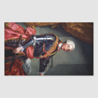 Charles III of Spain by Anton Raphael Mengs 1761 Rectangle Sticker