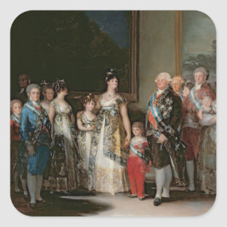 Charles IV  and his family, 1800 Square Sticker