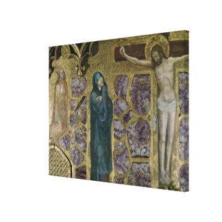 Charles IV at Prayer, Virgin and Christ of Canvas Print