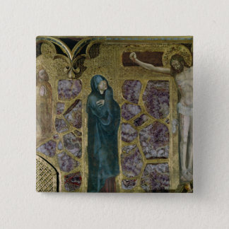 Charles IV at Prayer, Virgin and Christ of Pinback Button