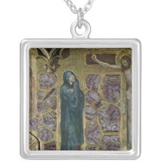 Charles IV at Prayer, Virgin and Christ of Silver Plated Necklace