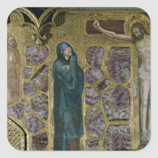 Charles IV at Prayer, Virgin and Christ of Square Sticker