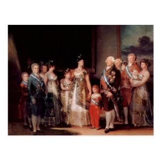 Charles IV de España y de su familia - Goya Postal