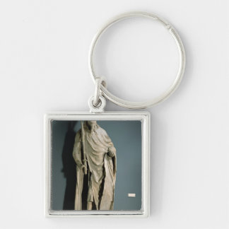 Charles IV Holy Roman Emperor Silver-Colored Square Keychain