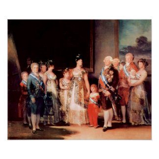 Charles IV of Spain and His Family by Goya Poster