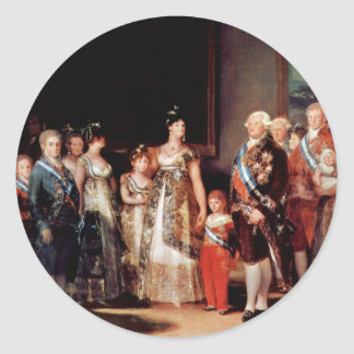 Charles Iv Of Spain And His Family Classic Round Sticker