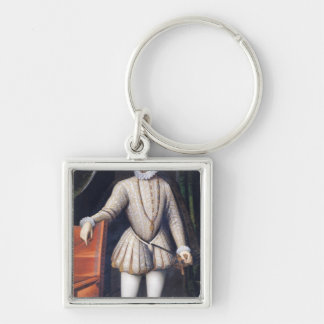 Charles IX  King of France Silver-Colored Square Keychain