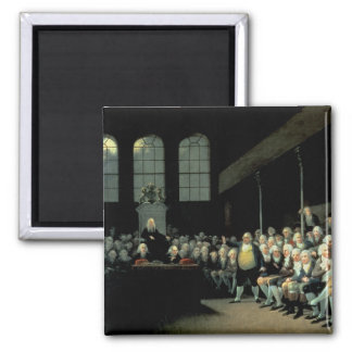 Charles James Fox  Addressing the House 2 Inch Square Magnet