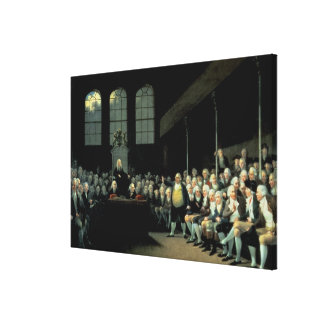 Charles James Fox Addressing the House Gallery Wrap Canvas