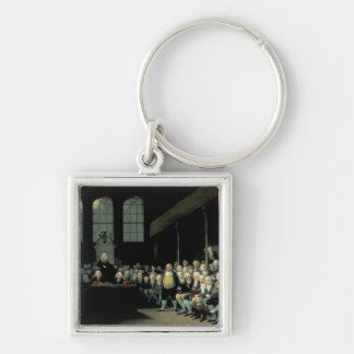 Charles James Fox  Addressing the House Silver-Colored Square Keychain
