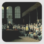 Charles James Fox  Addressing the House Square Sticker