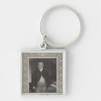 Charles James Fox Silver-Colored Square Keychain