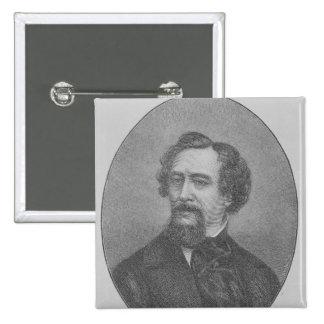 Charles John Huffam Dickens Button