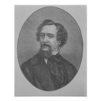 Charles John Huffam Dickens Poster