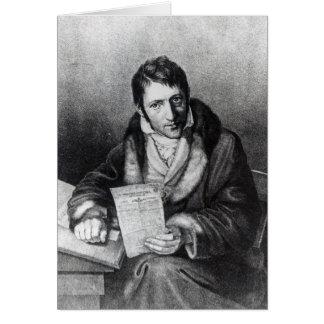 Charles-Joseph Panckouke holding Card