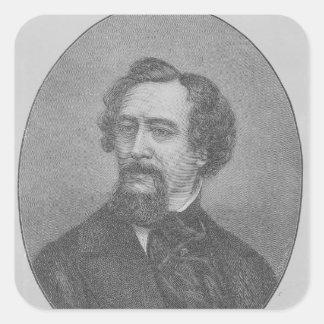 Charles Juan Huffam Dickens Pegatinas Cuadradases