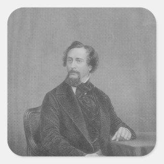 Charles Juan Huffam Dickens Calcomanías Cuadradas Personalizadas