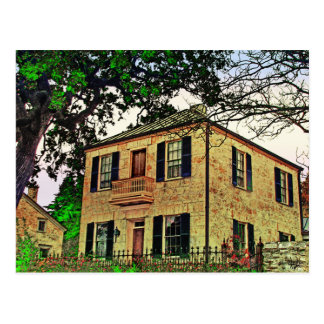 Charles Jung Home, Fredericksburg, TX Postcard