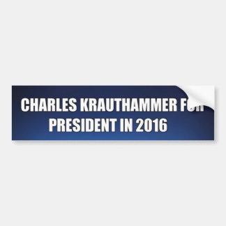 Charles Krauthammer for President in 2016 Bumper Sticker