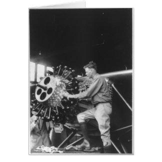 Charles Lindbergh Circa 1927 Card